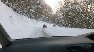 ハンターマウンテン 道路 積雪
